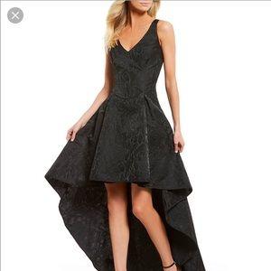 Nicole Miller Hi Low Jaguar black Dress Gown
